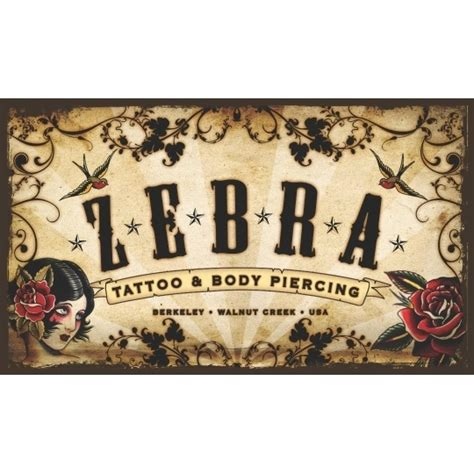 zebra tattoo body piercing zebra tattoos piercing in berkeley in berkeley ca 510