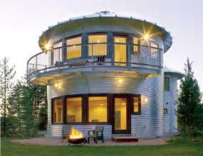 how to build a grain bin house