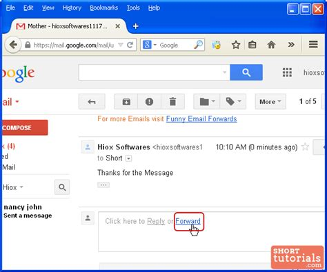 how to foward reply to or forward messages email in gmail