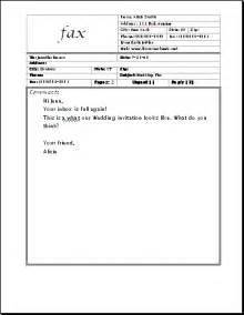 Fax Cover Letter Exle Fax Cover Sheet Sle