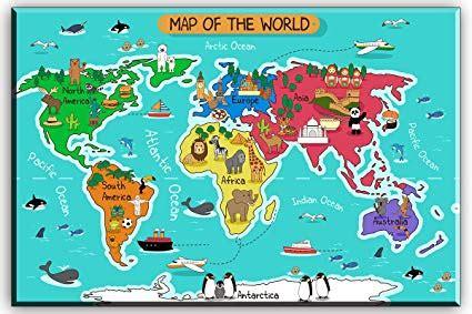 world map for children maps of world