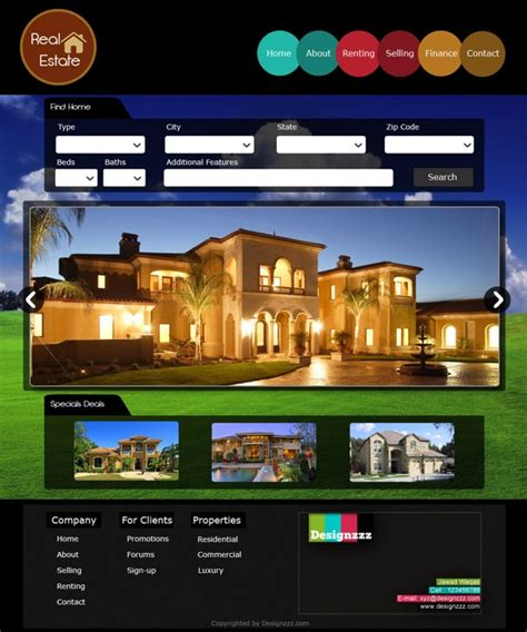 templates for real estate website free download download psd web template for a real estate website