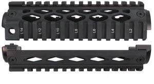 yhm 9660 two piece piston ar 15 quad rail handguard ar15