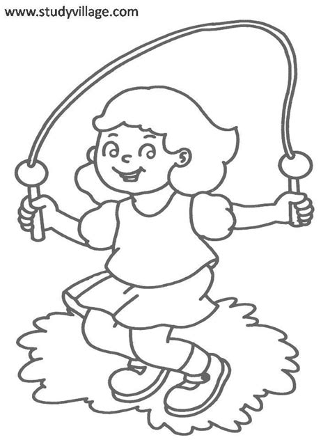 coloring book pages about exercise coloring pages