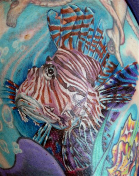 looking for unique julio rodriguez tattoos lionfish