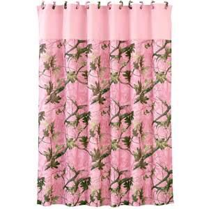 Camo pink shower curtain