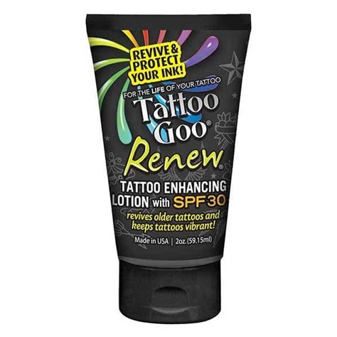 tattoo aftercare wipes tattoo goo renew spf30