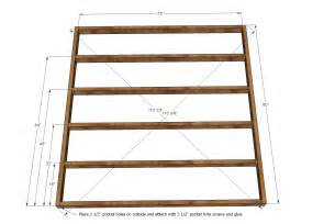 Wooden Bed Frame Dimensions White King Size Fancy Farmhouse Bed Diy Projects