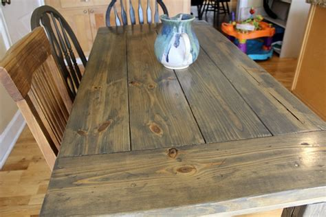 farmhouse table stain color farmhouse table easy one month project