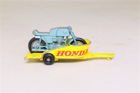 matchbox honda matchbox lesney 38c honda motorcycle trailer regular