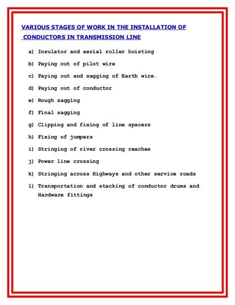 electrical installation method statement template free method statement for transmission line lanco