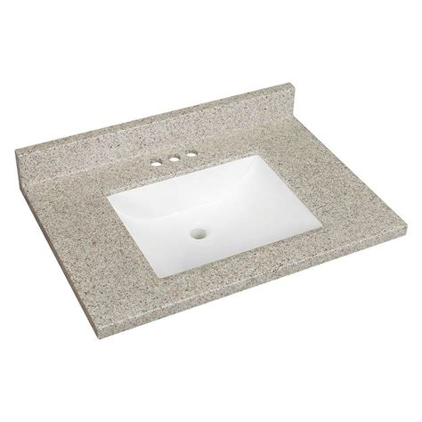 Solid Surface Technology Glacier Bay 31 In W Solid Surface Technology Vanity Top