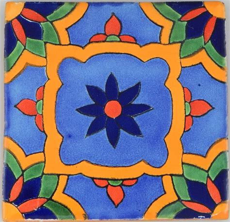 mexican tile folk handmade talavera backsplash