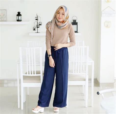 Celana Kulot Hitam Polos nggak pede pakai kulot karena pendek 4 tips mix and match