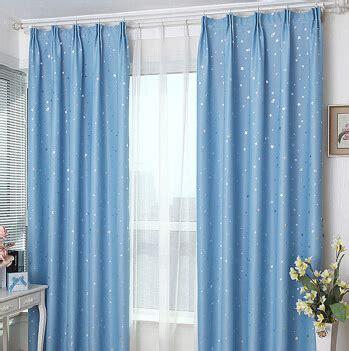 blue star curtains good quality star pattern cheap blue curtains