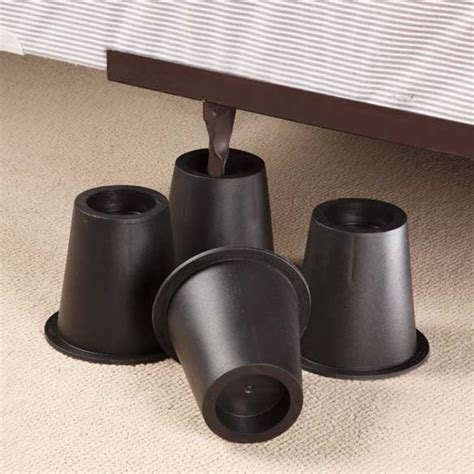 bed leg risers black bed risers bed risers bed leg risers easy comforts