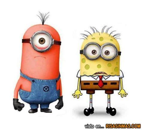 imagenes minions de bob minions como patricio y bob esponja