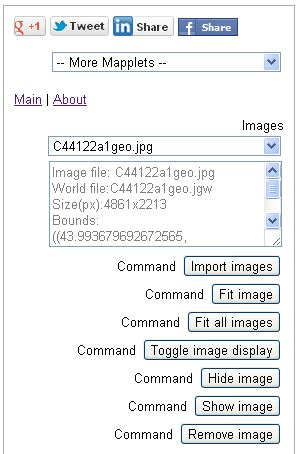 dominoc925: google mapplet to show geo referenced image