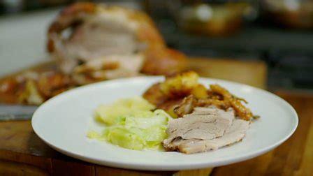 bbc food recipes slow roast shoulder of pork with slow roast shoulder of pork with roasties and apple sauce