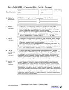 parenting plan template best photos of parenting plan forms joint custody