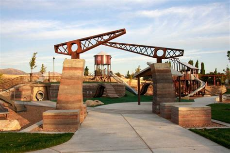 House Design Of 2016 Lodestone Park Playground Entry Rammed Earth Walls G