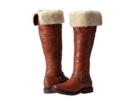frye valerie shearling boots frye valerie otk cognac antique soft vintage shearling