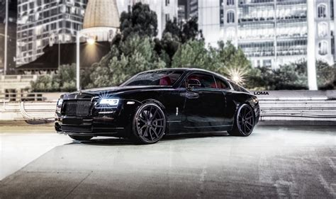 roll royce wraith on rims rolls royce tuning loma wheels