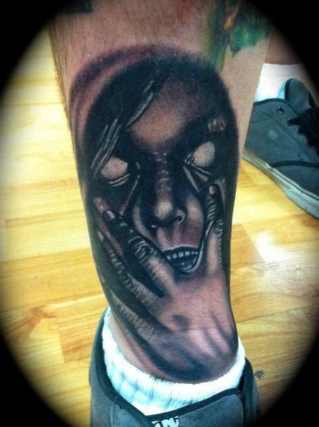 black and grey face tattoo art junkies tattoo studio tattoos scott grosjean