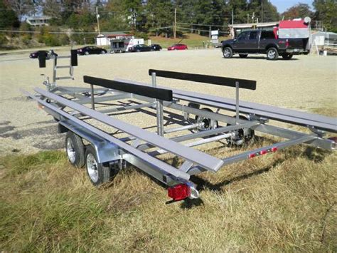 tritoon boat dimensions boat trailer new galvanized heavy duty pontoon trailers