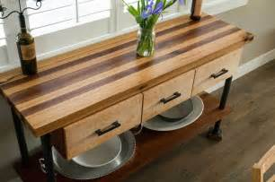 brazilian cherry butcher block cutting counter height furniture adorable kitchen carts on wheels design ideas