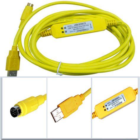 Mitsubishi Sc09 Fx Series Plc Cable plc programming usb sc09 fx cable mitsubishi fx0s fx1s fx0n fx1n fx2n yellow