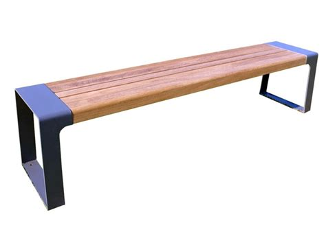steel and wood bench backless steel and wood bench murton collection by factory