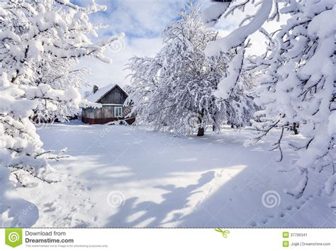 House Plans New England Winter Fairytale Heavy Snowfall Stock Image Image 37796341