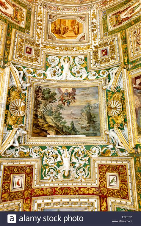 decorated ceiling decorated ceiling of the gallery of maps vatican museum
