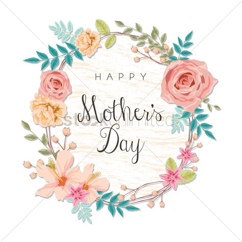 mothers day clipart happy mothers day card vector image 1807838 stockunlimited