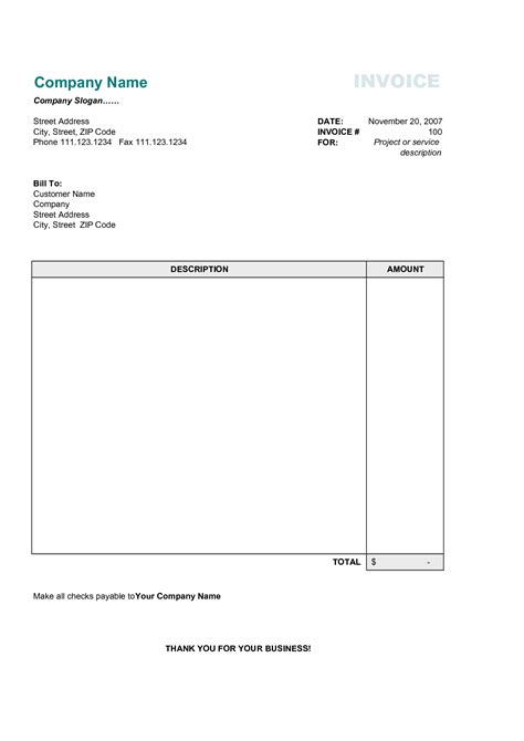 simple free invoice template excel simple invoice template design invoice template