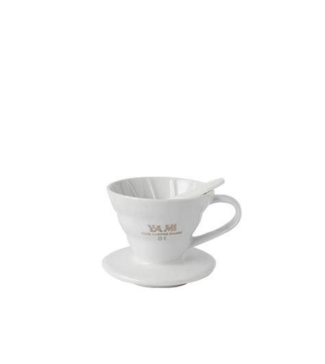 Yami V60 Ceramic Dripper v60 ceramic dripper flat bottom 1 2 cup restomart
