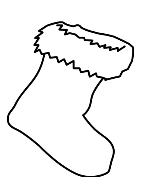 christmas stocking coloring page template best photos of printable christmas color stockings free