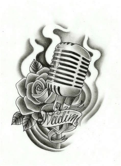 music mic tattoo designs 17 microphone drawings