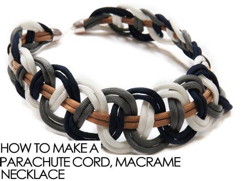 Make Macramé Cord Bracelet Patterns Home - how to make parachute cord macrame necklace knitting