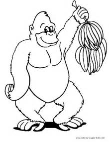 gorilla colors ape coloring pages getcoloringpages