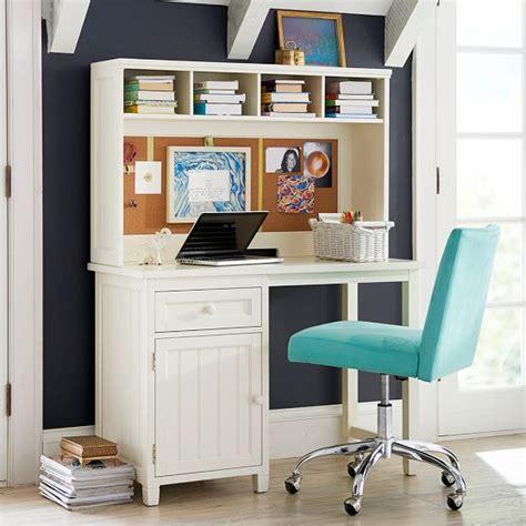 Beadboard Space Saving Desk Hutch Pbteen Room Change White Beadboard Desk