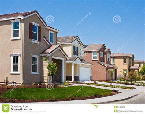 tract home new tract homes stock image image 31487041