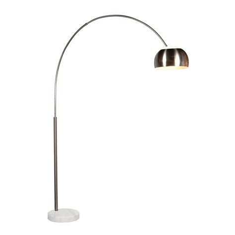 Floor And Decor Outlets Modern Arc Lamp In Satin Nickel Finish 4096 13g