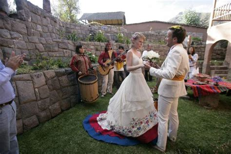 has a traditional wedding in every country they visit