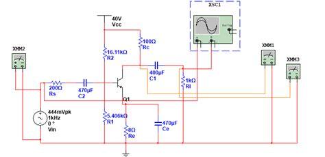 transistor lifier multisim lifier quality waveform for different transistors electrical engineering stack exchange