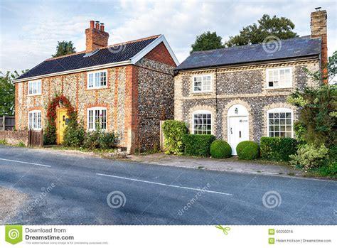 cottages in norfolk flint cottages in norfolk stock photo image 60200016