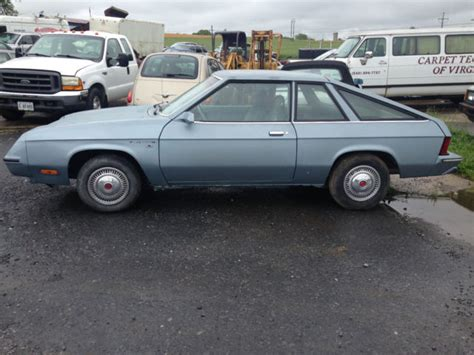 plymouth horizon tc3 for sale 1981 plymouth horizon miser hatchback garage kept for
