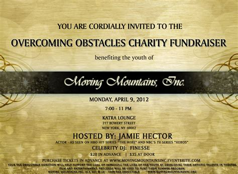 fundraiser invitation card templates fundraiser and charity invitation ideas to inspire you
