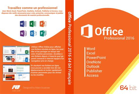 Dvd Microsoft Office office 2016 professional 64bit francais dvd cover by adamjouamaa on deviantart